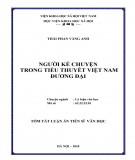 Tóm tắt luận văn Tiến sĩ Văn học: Người kể chuyện trong tiểu thuyết Việt Nam đương đại