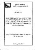 Tóm tắt luận văn Thạc sĩ Quản trị kinh doanh: Hoàn thiện công tác quản lý vốn đầu tư xây dựng cơ bản từ nguồn ngân sách nhà nước tại Phòng tài chính - Kế hoạch huyện Tiên Phước, tỉnh Quang Nam