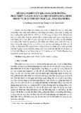 Kết quả nghiên cứu khả năng sinh trưởng, phát triển và năng suất của một số giống dưa chuột trong vụ Xuân ở huyện Ngọc Lặc, tỉnh Thanh Hóa