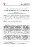 Thiết chế xã hội truyền thống của cư dân đầm phá Thừa Thiên Huế: Đặc trưng và vận dụng