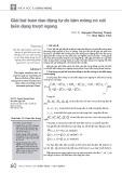 Giải bài toán dao động tự do tấm mỏng có xét biến dạng trượt ngang