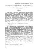 Ảnh hưởng của các yếu tố tâm lý đến quyết định đầu tư trên thị trường chứng khoán Việt Nam