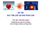 Bài giảng Xử trí suy tim cấp và phù phổi cấp ThS.BS. Văn Đức Hạnh