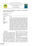 A study on using corrective feedbacks in teaching essays at school of foreign languages, Thai Nguyen University