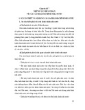 Tài liệu bồi dưỡng ngạch cán sự - Chuyên đề 7: Những vấn đề cơ bản về cải cách hành chính nhà nước