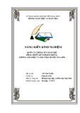 Sáng kiến kinh nghiệm: Quản lý thông tin giáo dục bằng thiết kế website riêng phòng Giáo dục và Đào tạo huyện Nga Sơn