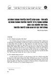 Sự hình thành truyền thuyết dân gian - Tìm hiểu sự hình thành truyền thuyết tứ vị Thánh nương (Qua các nguồn thư tịch, truyền thuyết dân gian và tục thờ cúng)