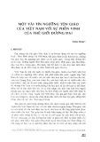 Một vài tín ngưỡng tôn giáo của Việt Nam với sự phồn vinh của thế giới đương đại