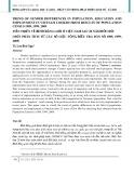 Tiến triển về bình đẳng giới ở Việt Nam sau 20 năm đổi mới (Một phân tích từ các số liệu tổng điều tra dân số 1989, 1999, 2009)