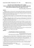 Xây dựng quy trình định lượng coixol trong Cam thảo nam (Scoparia dulcis L., Scropulariaceae) bằng phương pháp sắc kí lỏng hiệu năng cao