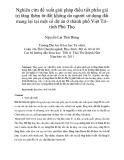 Nghiên cứu đề xuất giải pháp điều tiết phần giá trị tăng thêm từ đất không do người sử dụng đất mang lại tại một số dự án ở thành phố Việt Trì tỉnh Phú Thọ