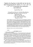 Nghiên cứu tổng hợp và tính chất xúc tác của vật liệu Nanospinen bậc ba AB2O4 (A = Cu2+, Zn2+; B = Al3+, Cr3+) trong phản ứng Oxidehydro hoá Etylbezen