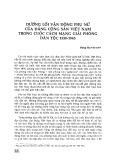Đường lối vận động phụ nữ của Đảng Cộng sản Việt Nam trong cuộc cách mạng giải phóng dân tộc 1930-1945