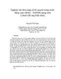 Nghiên cứu khả năng xử lý Amoni trong nước bằng nano MnO2 - FeOOH mang trên Laterit (Đá ong biến tính)