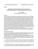 Hệ thống lãnh thổ sinh thái, quần xã nhân văn và hệ sinh thái nhân văn trong khoa học môi trường