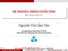 Bài giảng Phương pháp tính: Hệ phương trình phi tuyến - Nguyễn Thị Cẩm Vân