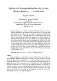 Nghiên cứu thành phần hóa học cây cỏ mực (Eclipta Prostrata L., Asteraceae)