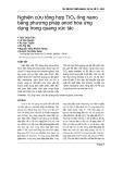 Nghiên cứu tổng hợp TiO2 ống nano bằng phương pháp anod hóa ứng dụng trong quang xúc tác