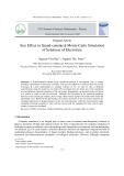 Size effect in Grand-canonical Monte-Carlo simulation of solutions of electrolyte