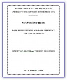 Sumary of Doctoral thesis in Economics: Bank restructuring and bank efficiency - The case of Vietnam