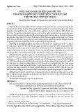 Bước đầu đánh giá hiệu quả điều trị thoái hóa khớp gối của bài thuốc nam sưu tầm trên địa bàn tỉnh Sóc Trăng