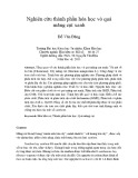 Nghiên cứu thành phần hóa học vỏ quả măng cụt xanh