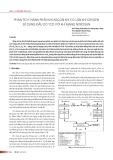 Phân tích thành phần khí Argon khi có lẫn khí Oxygen sử dụng đầu dò TCD với khí mang Nitrogen