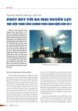 Tập đoàn Dầu khí Quốc gia Việt Nam: Phát huy tối đa mọi nguồn lực thực hiện thành công chương trình hành động năm 2012