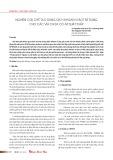 Nghiên cứu chế tạo dung dịch khoan vi bọt sử dụng cho các vỉa chứa có áp suất thấp