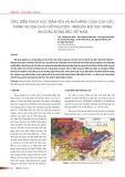 Đặc điểm thạch học trầm tích và khả năng chứa của các thành tạo địa chất tuổi Paleozoi - Mesozoi khu vực trũng An Châu, đông bắc Việt Nam