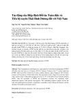 Tác động của Hiệp định Đối tác Toàn diện và Tiến bộ xuyên Thái Bình Dương đối với Việt Nam