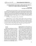 Vấn đề giới trong thu nhập và đóng góp thu nhập của người vợ và chồng trong gia đình Hà Nội