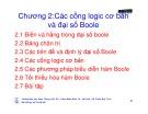 Bài giảng Kỹ thuật số - Chương 2: Các cổng logic cơ bản và đại số boole