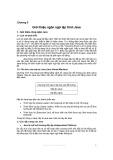Bài giảng Lập trình mạng với Java - Chương 2: Giới thiệu ngôn ngữ lập trình Java