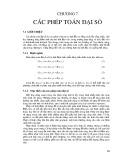 Bài giảng Xử lý ảnh - Chương 7: Các phép toán đại số