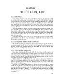 Bài giảng Xử lý ảnh - Chương 11: Thiết kế bộ lọc
