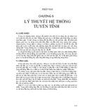 Bài giảng Xử lý ảnh - Chương 9: Lý thuyết hệ thống tuyến tính