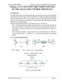 Bài giảng Thông tin dữ liệu và mạng máy tính - Chương 4: Các giao thức điều khiển liên kết dữ liệu (data link control protocols)