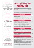 Tạp chí Khoa học Ngoại ngữ - Quân sự (Số 12 – 3/2018)