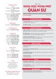 Tạp chí Khoa học Ngoại ngữ - Quân sự (Số 17 – 1/2019)