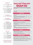 Tạp chí Khoa học Ngoại ngữ - Quân sự (Số 8 – 7/2017)
