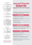 Tạp chí Khoa học Ngoại ngữ - Quân sự (Số 15 – 9/2018)