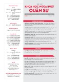 Tạp chí Khoa học Ngoại ngữ - Quân sự (Số 20 – 7/2019)