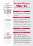 Tạp chí Khoa học Ngoại ngữ - Quân sự (Số 9 – 9/2017)