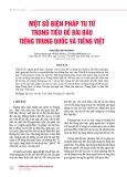 Một số biện pháp tu từ trong tiêu đề bài báo tiếng Trung Quốc và tiếng Việt