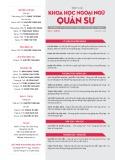 Tạp chí Khoa học Ngoại ngữ - Quân sự (Số 13 – 5/2018)