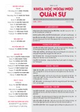 Tạp chí Khoa học Ngoại ngữ - Quân sự (Số 6 – 3/2017)