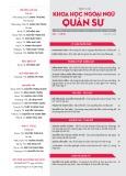 Tạp chí Khoa học Ngoại ngữ - Quân sự (Số 4 – 11/2016)