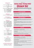 Tạp chí Khoa học Ngoại ngữ - Quân sự (Số 10 – 11/2017)