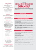 Tạp chí Khoa học Ngoại ngữ - Quân sự (No 19 – 5/2019)